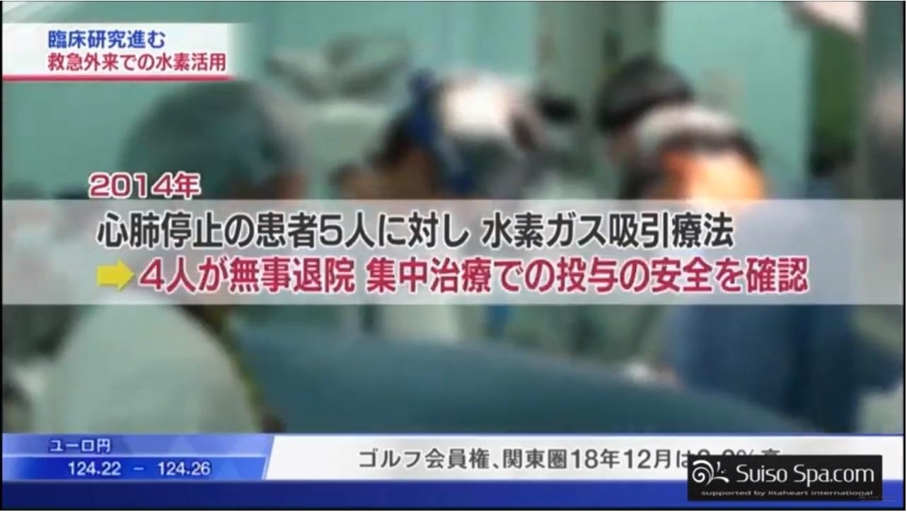 心肺停止の患者に水素ガス吸引療法